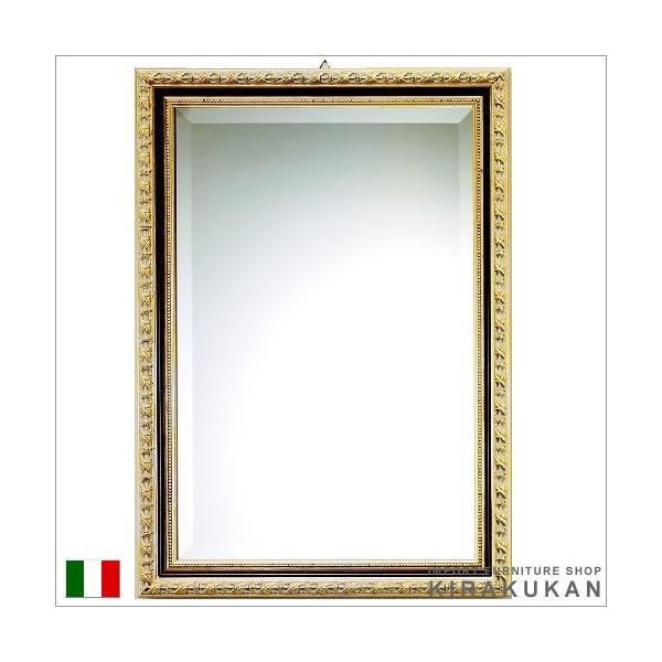輸入雑貨 イタリア製ミラー(金&黒)|e-kirakukan