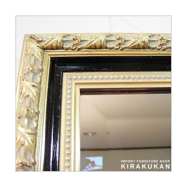 輸入雑貨 イタリア製ミラー(金&黒)|e-kirakukan|03