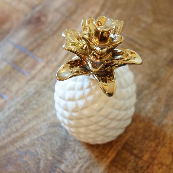 インテリア雑貨 パイナップルのオブジェ 置物 陶器製 おしゃれ雑貨|e-kirakukan|02