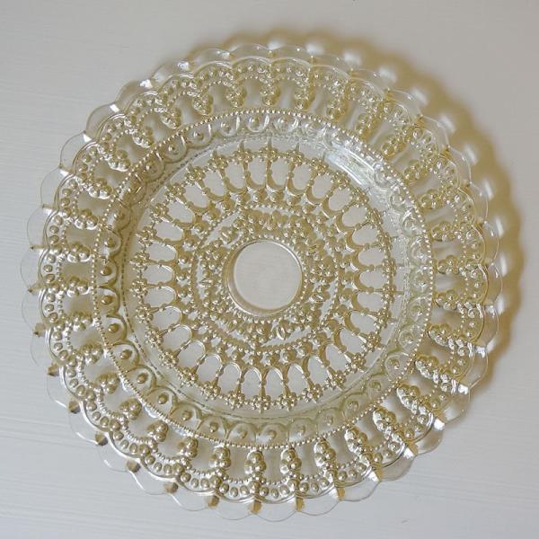ガラス食器・ゴールドレース ケーキプレートS 皿 22cm トルコ製|e-kirakukan|02