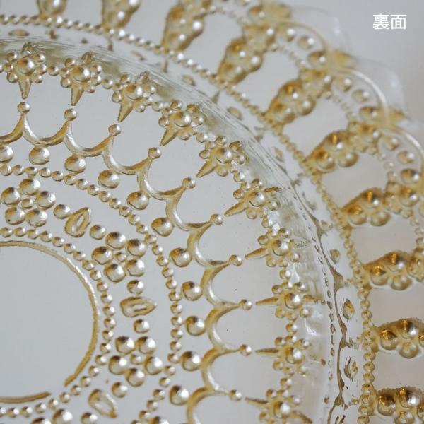 ガラス食器・ゴールドレース ケーキプレートS 皿 22cm トルコ製|e-kirakukan|06