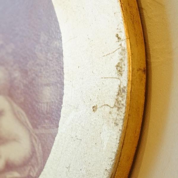 【訳あり・即納!・一部キズあり】天使の板絵 エンジェル 雑貨 天使雑貨 丸形 ゴールド|e-kirakukan|13