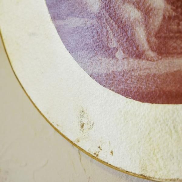 【訳あり・即納!・一部キズあり】天使の板絵 エンジェル 雑貨 天使雑貨 丸形 ゴールド|e-kirakukan|07