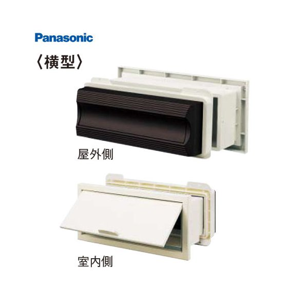 パナソニック サインポスト KC型 [CTR180*] 住宅壁埋め込み(木造躯体・窯業サイディング)専用 横型 わざわざ外へ出なくても、屋内で新聞が受け取れます