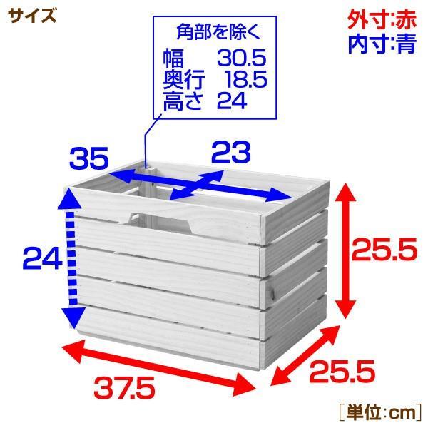 2個組 パイン材 木箱 深型 TWB-2525(NA) 無塗装 収納ボックス インナーボックス インナーケース 収納ケース ウッドボックス 本棚 おもちゃ箱【あすつく】|e-kurashi|06