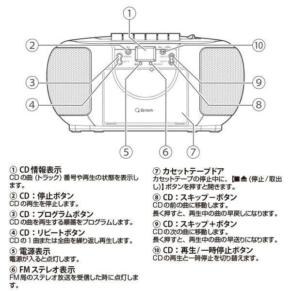 CDラジカセ (AM/FM・カセット・CD)AC100V/乾電池仕様 YCD-C600(S) ラジカセ ラジオ 録音 カセットテープ ラジオレコーダー カセットレコーダー【あすつく】|e-kurashi|04