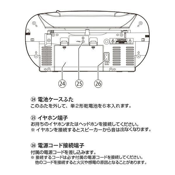 CDラジカセ (AM/FM・カセット・CD)AC100V/乾電池仕様 YCD-C600(S) ラジカセ ラジオ 録音 カセットテープ ラジオレコーダー カセットレコーダー【あすつく】|e-kurashi|06