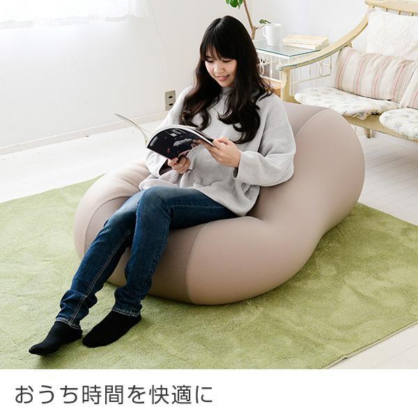 ビーズソファー 特大 BS60-1140-T マイクロビーズ ビーズソファ ソファ ソファー 1人掛け 座椅子 座いす フロアチェア 人をダメにする ソファ e-kurashi 02