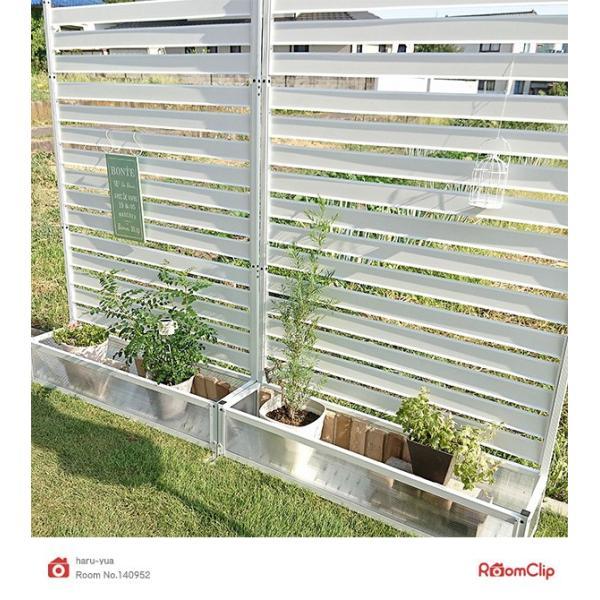 アルミプランターフェンス(幅120高さ180) KAPF-1218 ガーデンラティス ボーダーフェンス プランターボックス 花壇フェンス【あすつく】|e-kurashi|04