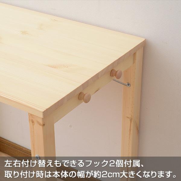 折りたたみデスク 折りたたみ机 テーブル パソコンデスク PCデスク 折りたたみテーブル パイン材 天然木 机 MJT-7850H(NA)【あすつく】|e-kurashi|05