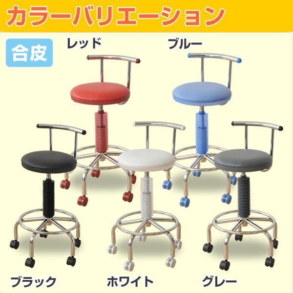 カウンターチェア 合成皮革 キャスター バーチェア キッチンチェアー キャスター付き 回転椅子 回転チェア CB-172BK【あすつく】|e-kurashi|02