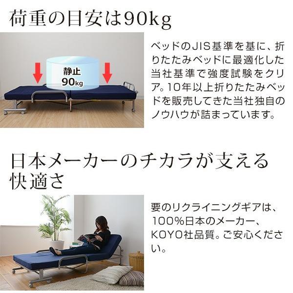 折りたたみベッド セミダブルベッド 折り畳みベッド 折りたたみベット 低反発 リクライニングベッド マットレス付きベッド KBT-SD【あすつく】|e-kurashi|06