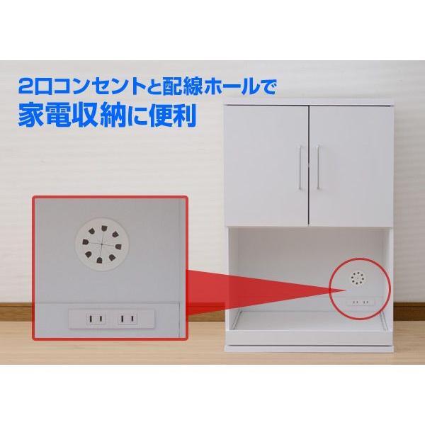 家電ラック 幅60/奥行39/高さ90 SYSK-9060DRE(WH) ホワイト 家電収納ラック キッチンラック キッチンボード キッチン収納 組み合わせ|e-kurashi|03