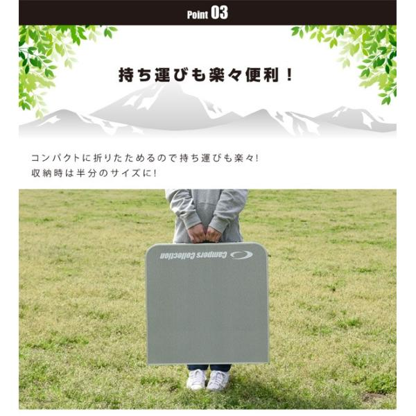 アウトドア 折りたたみテーブル バーベキュー用テーブル キャンプ ローテーブル レジャー 折り畳み YAT-1260【あすつく】|e-kurashi|04