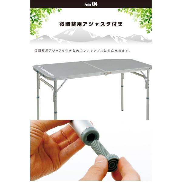 アウトドア 折りたたみテーブル バーベキュー用テーブル キャンプ ローテーブル レジャー 折り畳み YAT-1260【あすつく】|e-kurashi|05
