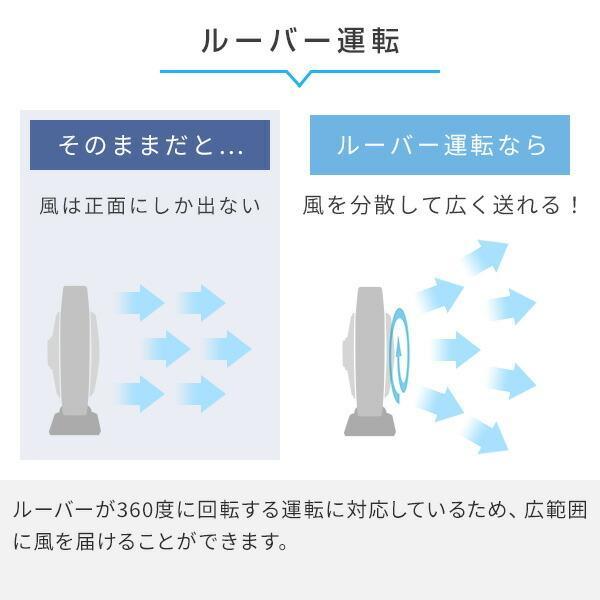 25cmスイングボックス扇風機(リモコン)タイマー付 YSBR-A255(MS) せんぷうき サーキュレーター スイングボックス扇 BOX扇|e-kurashi|06