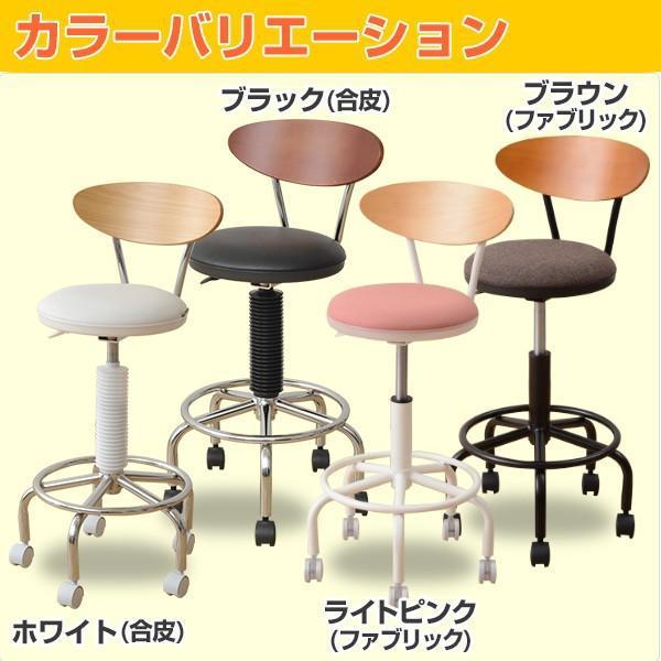 カウンターチェア 合成皮革 キャスター バーチェア キッチンチェアー キャスター付き 回転椅子 回転チェア CB-388(W)【あすつく】|e-kurashi|02
