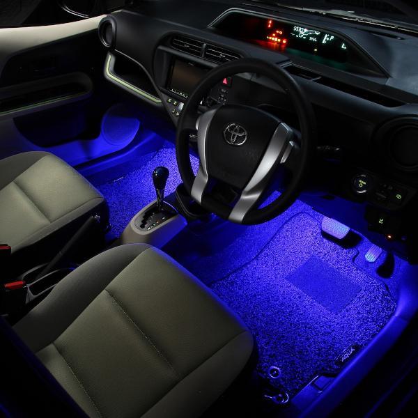 LED フットランプ / フットライト キット  | アクア(NHP10)専用 | エーモン/e-くるまライフ|e-kurumalife|03