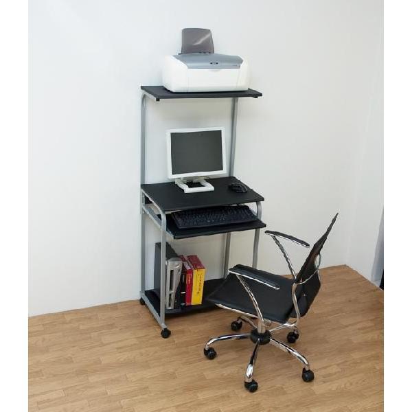 パソコンデスク おしゃれ 60cm 木製 パソコンラック スリム|e-living|04