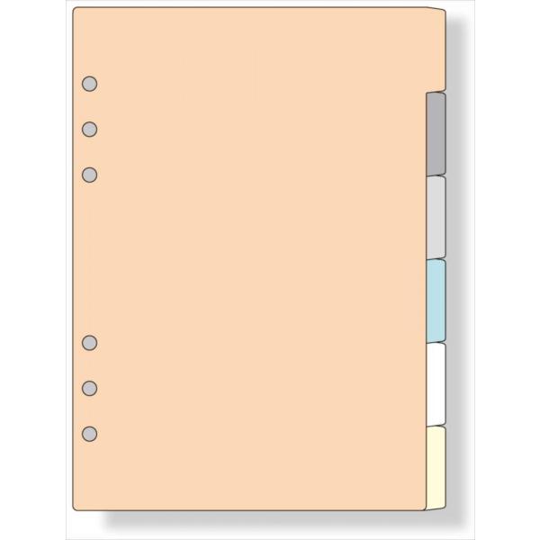 システム手帳 リフィル A5 カラーインデックス