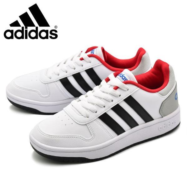 アディダス adidas アディフープス ADIHOOPS 2.0 K ホワイト/レッド・ホワイト/ネイビー|e-minerva|02