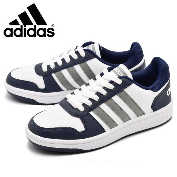アディダス adidas アディフープス ADIHOOPS 2.0 K ホワイト/レッド・ホワイト/ネイビー|e-minerva|03