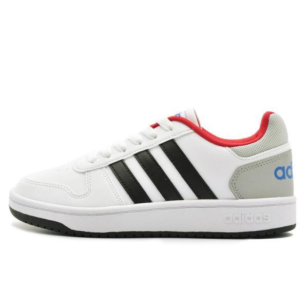 アディダス adidas アディフープス ADIHOOPS 2.0 K ホワイト/レッド・ホワイト/ネイビー|e-minerva|04
