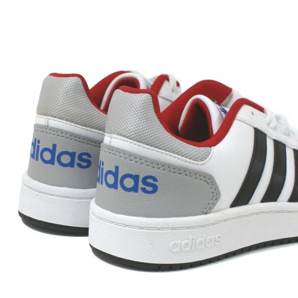 アディダス adidas アディフープス ADIHOOPS 2.0 K ホワイト/レッド・ホワイト/ネイビー|e-minerva|06
