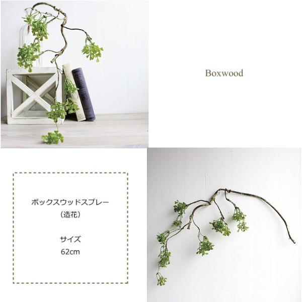 ボックスウッドスプレー 枝 41937 造花 フェイクグリーン CT触媒|e-mintcafe|03