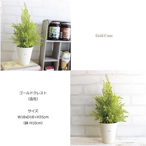 ゴールドクレスト白鉢 35cm  人工観葉植物 造花 インテリア フェイクグリーン CT触媒|e-mintcafe|03