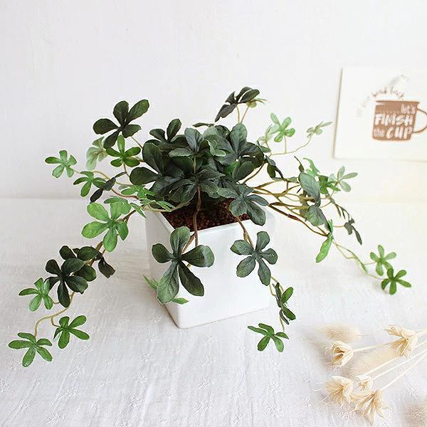 観葉植物 L.シサスアイビー シュガーバイン 造花 インテリア フェイクグリーン 高級 リアル おしゃれ 室内 ギフト 消臭 光触媒 CT触媒|e-mintcafe