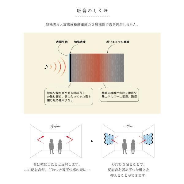 まとめ買い3個以上でクーポン対象 防音 吸音 壁 防音材 防音シート 窓 ドア 吸音材 防音マット QonPET otto デザイン おしゃれ 吸音シート 騒音 DIY|e-mondo1028|09