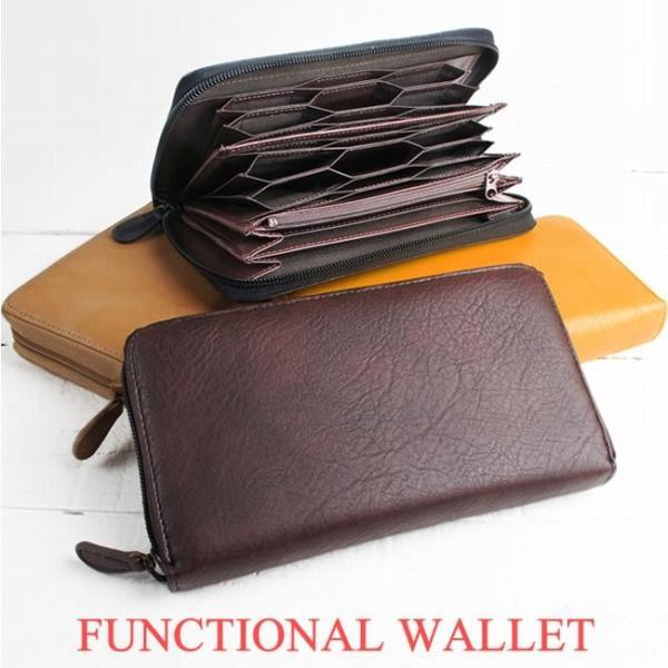 ハニカムカードポケット長財布