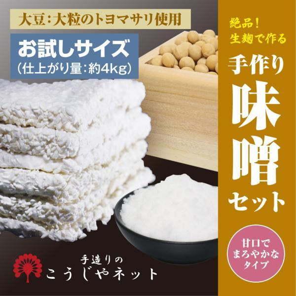 こうじやネット 播州こうじや お手軽 手作り味噌セット(大豆:大粒のトヨマサリ使用)/甘口でまろやかな味噌(出来上がり量約4kg)
