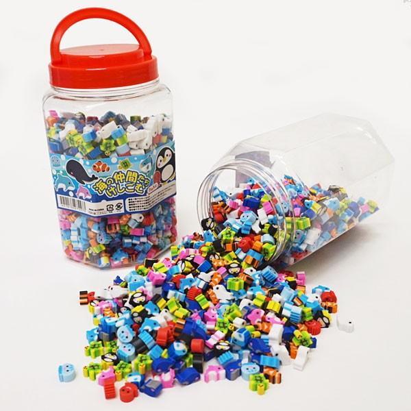 海の仲間たち かわいい消しゴムすくいどり 約1000個×2ボトル 約100名参加可能