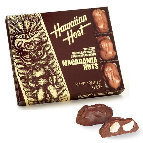 ハワイアンホースト マカダミアナッツチョコTIKI 8粒入1箱 ハワイ土産 お菓子 お返し お礼 手土産 チョコレート