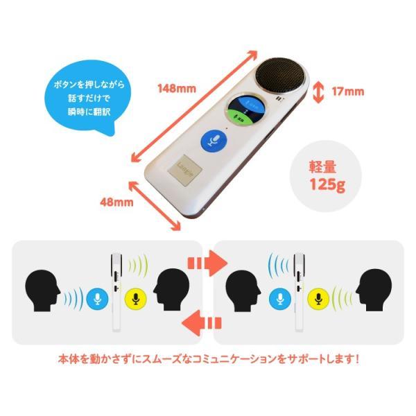 音声翻訳機 ボタンを押して話すだけ 52か国語対応 タッチパネル付き 軽量125g 留学/ビジネス/語学学習/海外旅行など RW115 e-plaisir-shop 04