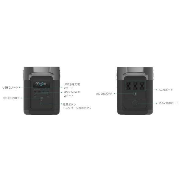 【8月入荷予定】 大容量バッテリー 充電器 ポータブル電源 容量 340540mAh (1260Wh) ECOFLOW EFDELTA1300-JP ソーラーパネルセット版|e-plaisir-shop|18