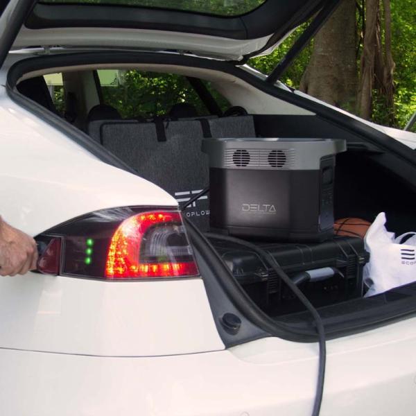 【8月入荷予定】 大容量バッテリー 充電器 ポータブル電源 容量 340540mAh (1260Wh) ECOFLOW EFDELTA1300-JP ソーラーパネルセット版|e-plaisir-shop|08
