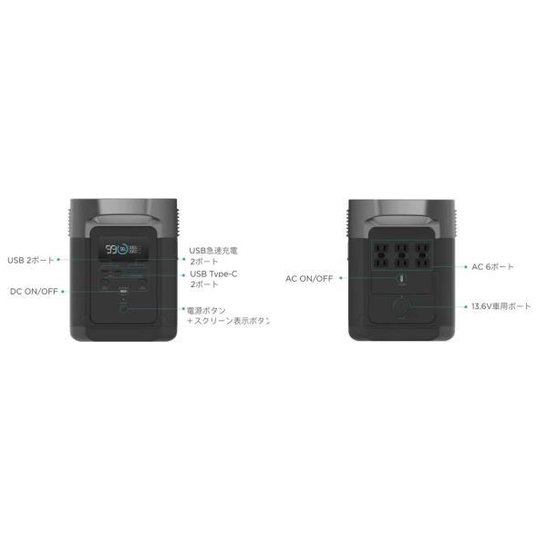 大容量バッテリー 340540mAh (1260Wh) 充電器 ポータブル電源 防災用 災害用 非常用電源 キャンプ 容量 ECOFLOW EFDELTA1300-JP|e-plaisir-shop|18