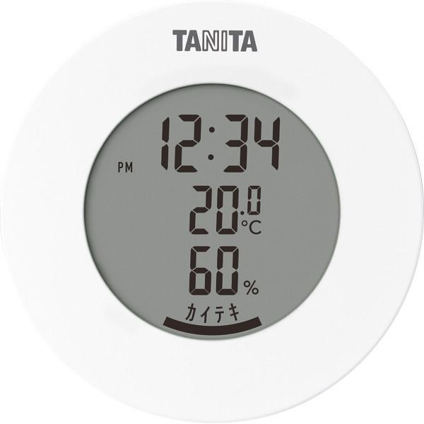 タニタ デジタル温湿度計 ホワイト (TT585WH)
