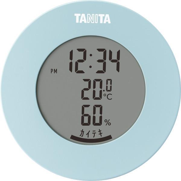 タニタ デジタル温湿度計 ライトブルー (TT585BL)