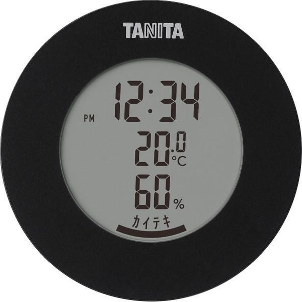 タニタ デジタル温湿度計 ブラック (TT585BK)
