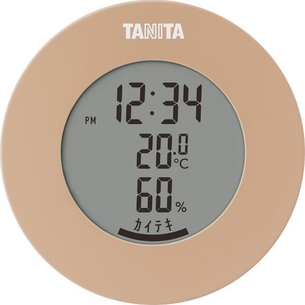 タニタ デジタル温湿度計 ライトブラウン (TT585BR)
