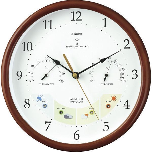 エンペックス ウエザーパル電波時計 ブラウン (BW-873)