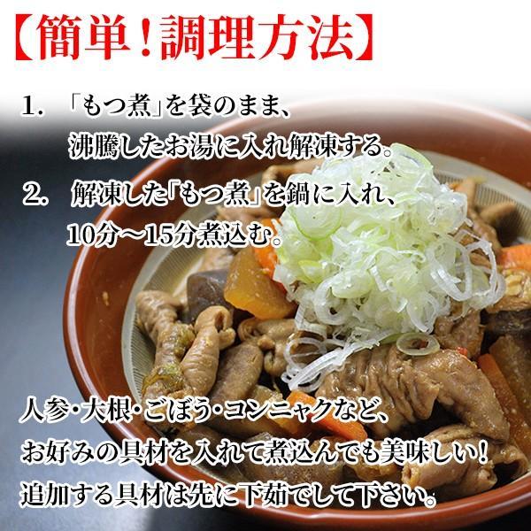 もつ煮込み500g 国産牛豚使用/八丁味噌仕立て/白もつ/ガツ/モツ/がってん e-rdc 04