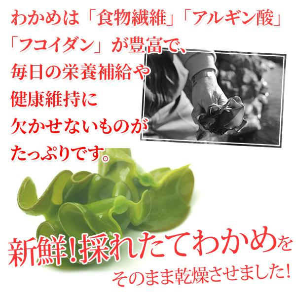 乾燥カットわかめ90g /ワカメ/スープ/国産/送料無料/海藻/味噌汁/がってん/メール便|e-rdc|04