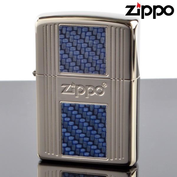 Zippo ジッポライター 2pn-cbl CARBON INLAY カーボン インレイ ブルー 2PN-CBL