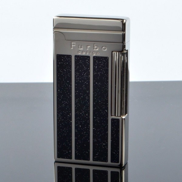 Furbo design fd100-12 ダイアナシルバー ポリッシュ ブラック フリントガスライター サロメライター