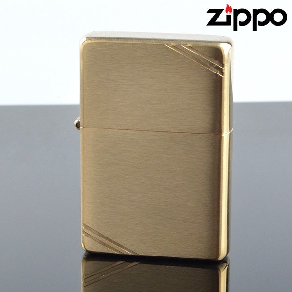 Zippo ジッポライター zp240 スタンダードフラットトップビンテージサイドカット ブラスサテーナ オイルライター